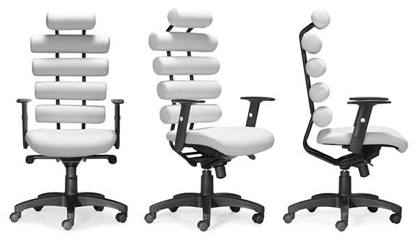 Moderne kancelarske kreslo - biele
