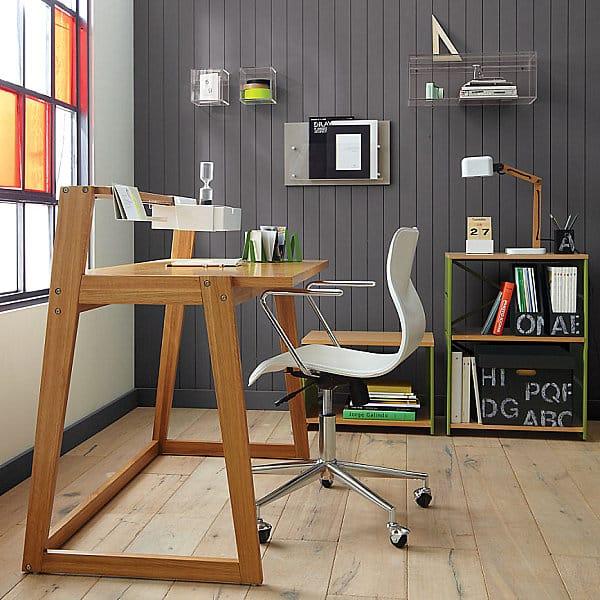 Moderny kancelarsky stol - hnedy