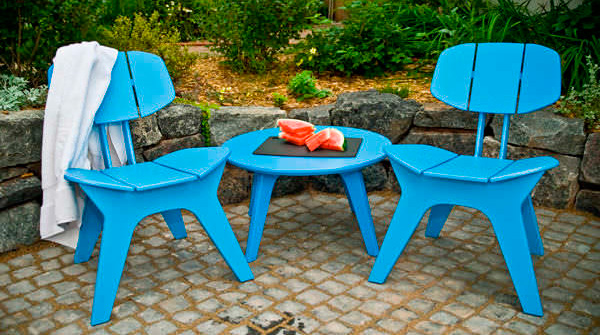 Plastove stolicky - zahradny nabytok