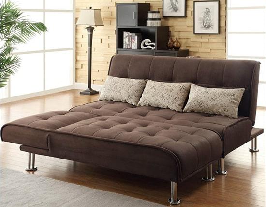 Moderna hneda rozkladacia sedacka