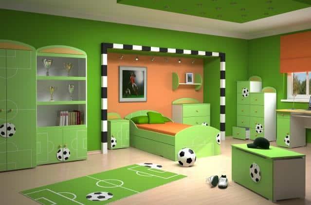Chlapcenska detska izba- futbalista
