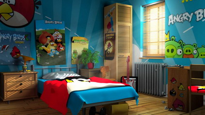 Detska izba pre chlapca - angry birds