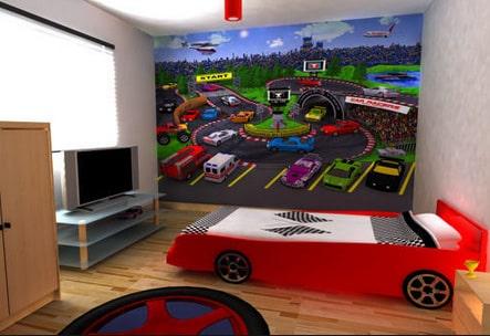 Detska izba pre chlapca - auta