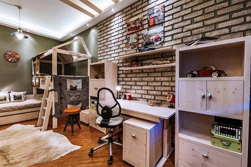 Moderna detska izba pre chlapca