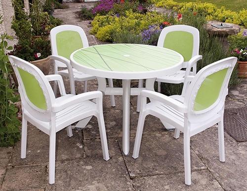 Moderny plastovy nabytok do zahrady - stolicky a stol