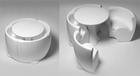 Moderny plastovy nabytok - biely