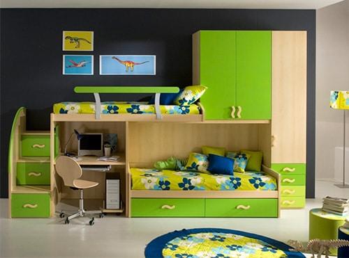 Zelena chlapcenska izba