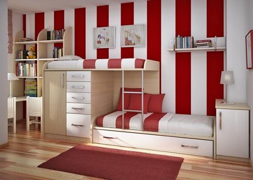 Detská izba pre 2 deti - 2 postele