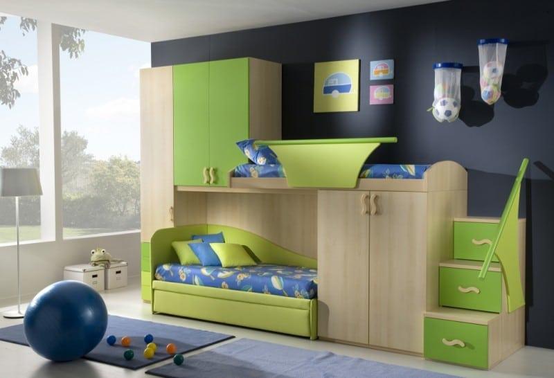 Detska izba pre chlapcov - poschodova postel
