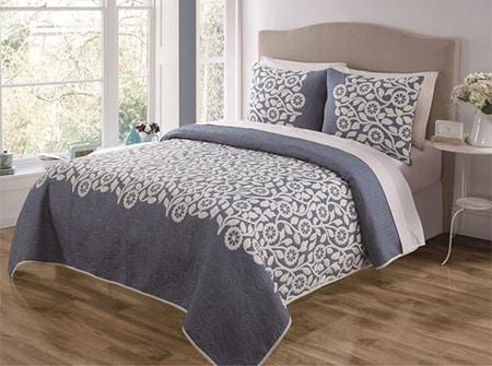Prikryvka na postel - kvetinova