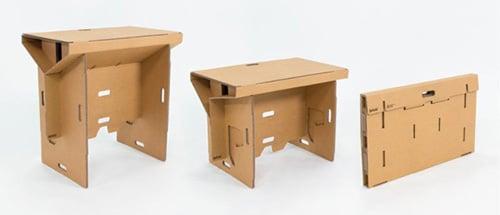 Stôl z kartónu - kartonový stôl