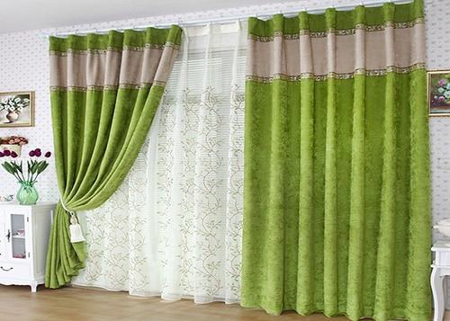 Zelené závesy do obývačky