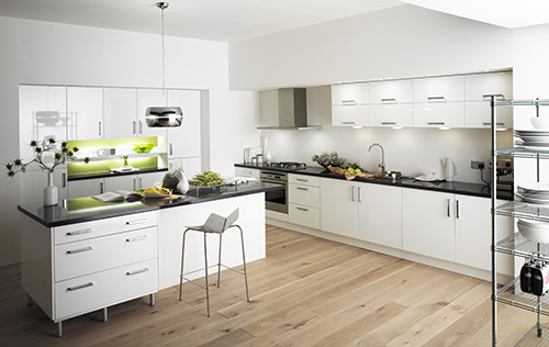 Drevená podlaha v kuchyni