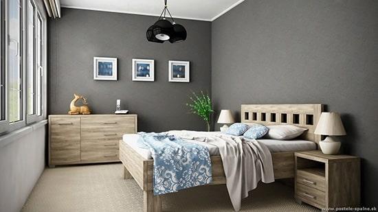 Moderná manželská posteľ Janka