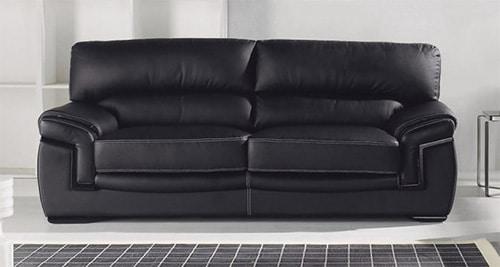 Čierny kožený gauč