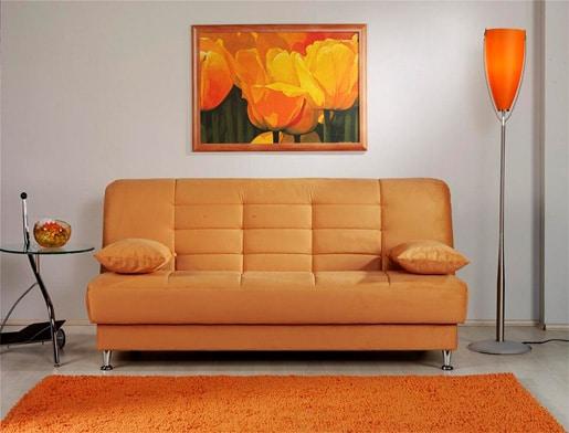 Oranžová pohovka