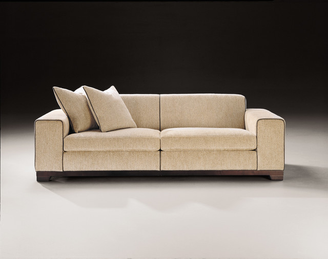 Moderná textilná sedačka
