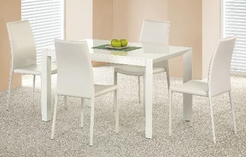 Biely moderný jedálenský stôl