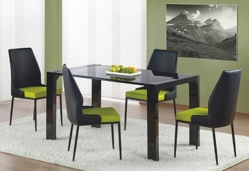Moderny cierny jedalensky stol