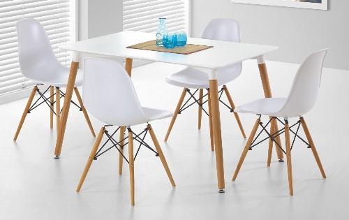 Moderny jedalensky stol - biely