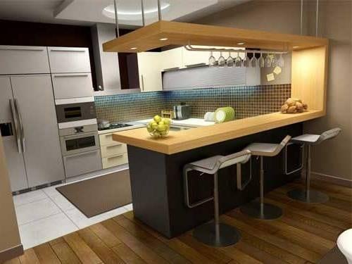 Moderný barový pult do kuchyne