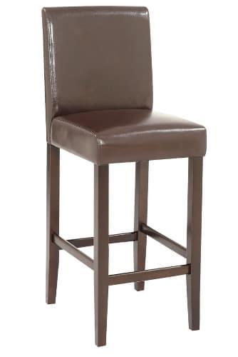 Kožená barová stolička - hnedá