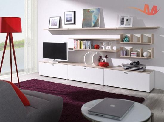 Malá a jednoduchá obývacia stena