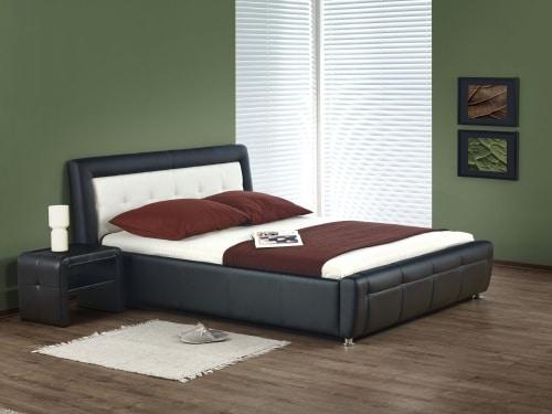 Moderná manželská čalúnená posteľ