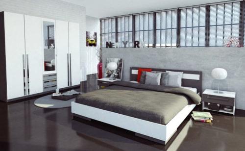 Moderná manželská posteľ