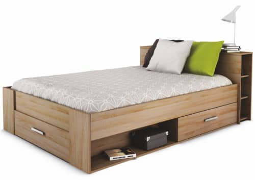 Manželská posteľ s odkladacím priestorom