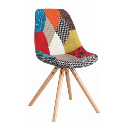 Pestrofarebná jedálenská stolička