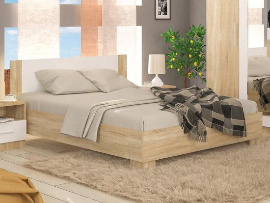 Manželská posteľ - dub sonoma