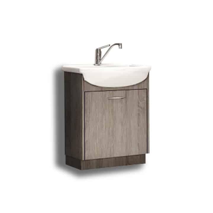 Kupeľňová skrinka pod umývadlo - hnedá