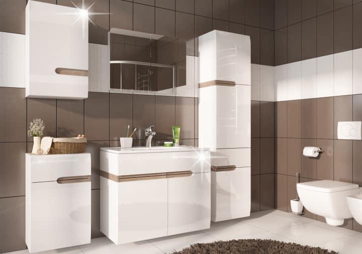 Kúpeľňový nábytok - biely