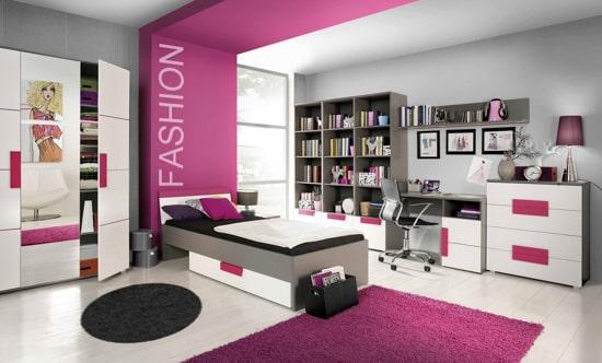 Moderná dievčenská izba
