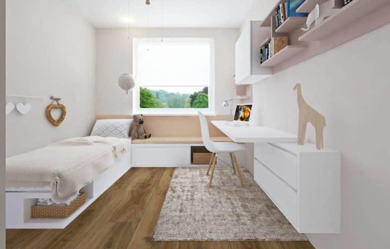 Moderná biela detská izba
