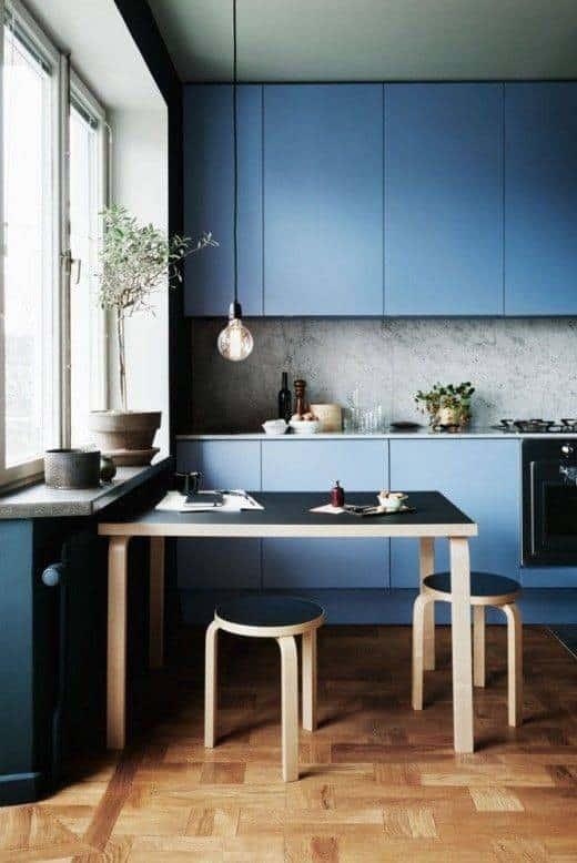 Modrá kuchyňa